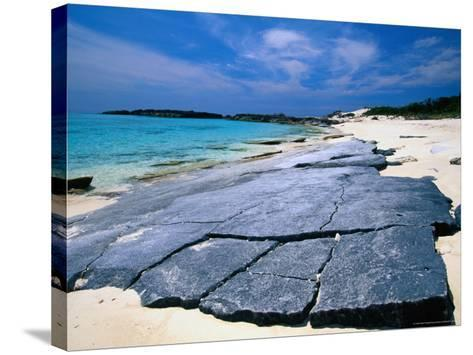 Island Beach, Conception Island, Acklins & Crooked Islands, Bahamas-Greg Johnston-Stretched Canvas Print