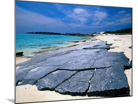 Island Beach, Conception Island, Acklins & Crooked Islands, Bahamas-Greg Johnston-Mounted Photographic Print