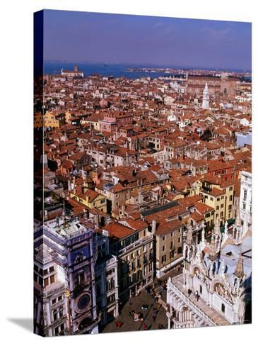 City Rooftops, Venice, Veneto, Italy-Christopher Groenhout-Stretched Canvas Print
