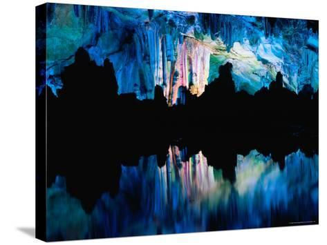 Inside the Lu Di (Reed Flute) Caves, Guilin, Guangxi, China-Keren Su-Stretched Canvas Print