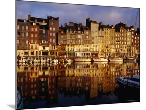 Morning Reflections of Vieux Bassin, Honfleur, Basse-Normandy, France-Diana Mayfield-Mounted Photographic Print