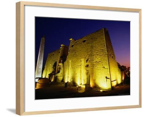 Ancient Temple at Night, Luxor, Egypt-Wayne Walton-Framed Art Print