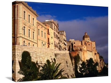 Cathedral from Bastione San Remy, Cagliari, Italy-Wayne Walton-Stretched Canvas Print