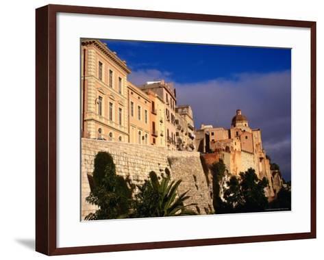 Cathedral from Bastione San Remy, Cagliari, Italy-Wayne Walton-Framed Art Print