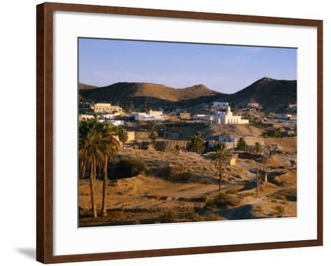 Troglodyte Dwellings Above Ground, Matmata, Tunisia-Peter Ptschelinzew-Framed Art Print