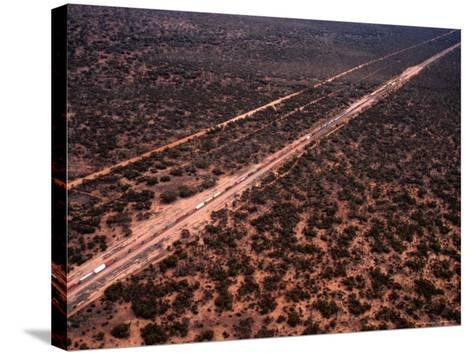 Trans-Continental Railway Line Crossing Outback, Australia-Diana Mayfield-Stretched Canvas Print