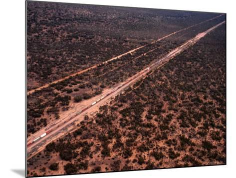 Trans-Continental Railway Line Crossing Outback, Australia-Diana Mayfield-Mounted Photographic Print