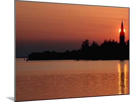 Sunset Over Poveglia Island and the Lagoon, Venice, Veneto, Italy-Roberto Gerometta-Mounted Photographic Print