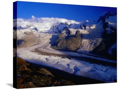 Gorner Glacier and Monte Rosa Massif, Valais, Switzerland-Gareth McCormack-Stretched Canvas Print