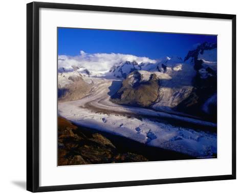 Gorner Glacier and Monte Rosa Massif, Valais, Switzerland-Gareth McCormack-Framed Art Print