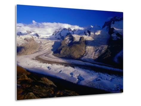Gorner Glacier and Monte Rosa Massif, Valais, Switzerland-Gareth McCormack-Metal Print