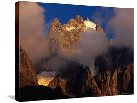 Evening Light and Cloud on Chamonix Aiguilles, Chamonix Valley, Rhone-Alpes, France-Gareth McCormack-Stretched Canvas Print
