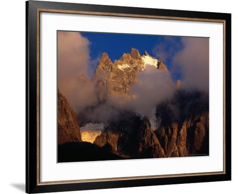 Evening Light and Cloud on Chamonix Aiguilles, Chamonix Valley, Rhone-Alpes, France-Gareth McCormack-Framed Art Print