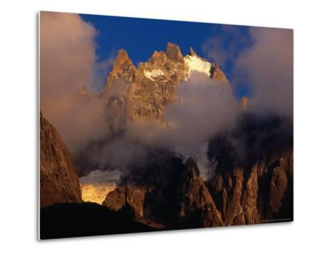 Evening Light and Cloud on Chamonix Aiguilles, Chamonix Valley, Rhone-Alpes, France-Gareth McCormack-Metal Print