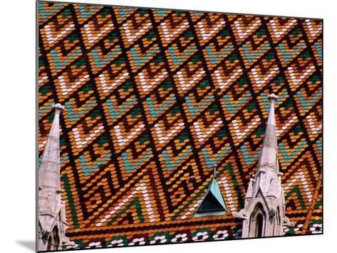 Detail of Roof of Matthias Church, Budapest, Pest, Hungary,-Roberto Gerometta-Mounted Photographic Print