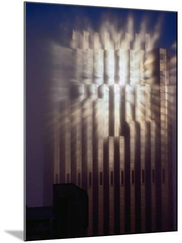 Reflection of Sun of Bank of America Building Through Fog, San Francisco, California, USA-Richard I'Anson-Mounted Photographic Print