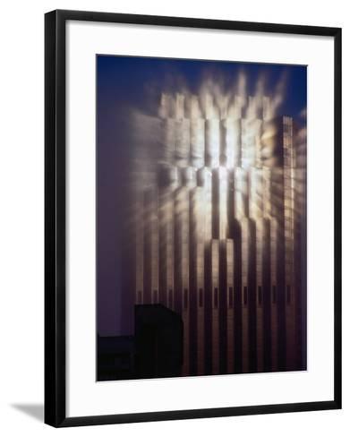 Reflection of Sun of Bank of America Building Through Fog, San Francisco, California, USA-Richard I'Anson-Framed Art Print