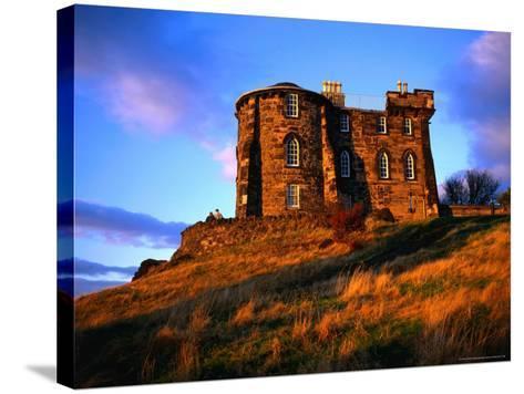 Exterior of City Observatory on Calton Hill, Edinburgh, United Kingdom-Jonathan Smith-Stretched Canvas Print