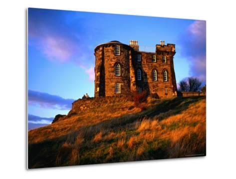 Exterior of City Observatory on Calton Hill, Edinburgh, United Kingdom-Jonathan Smith-Metal Print