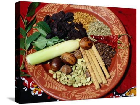 Selection of Spices for Sri Lankan Cooking, Sri Lanka-Richard Nebesky-Stretched Canvas Print