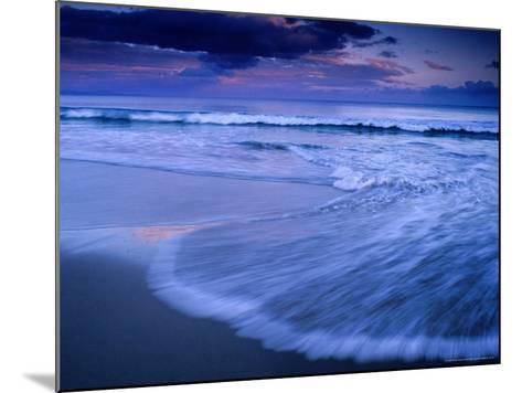 Wave on Shore of Neck Beach at Sunset, Bruny Island, Tasmania, Australia-Gareth McCormack-Mounted Photographic Print