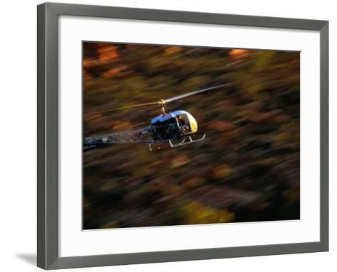 Helicopter at Glen Helen Gorge West Macdonnell National Park, Northern Territory, Australia-John Hay-Framed Art Print