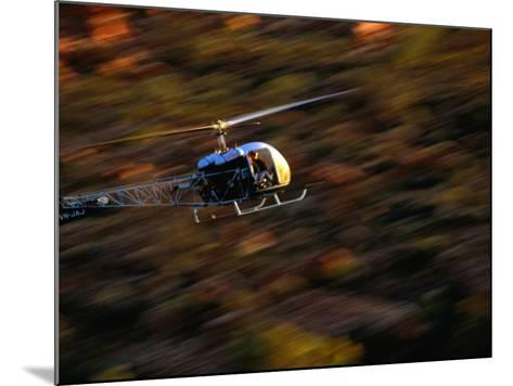 Helicopter at Glen Helen Gorge West Macdonnell National Park, Northern Territory, Australia-John Hay-Mounted Photographic Print