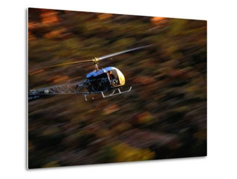 Helicopter at Glen Helen Gorge West Macdonnell National Park, Northern Territory, Australia-John Hay-Metal Print
