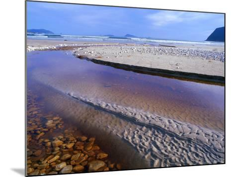 Shallow Water on Stones and Sand at Estuary on Cox Bluff, South West Nat. Park, Tasmania, Australia-Grant Dixon-Mounted Photographic Print