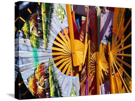 Decorative Fans in Chinatown, Singapore-Richard I'Anson-Stretched Canvas Print
