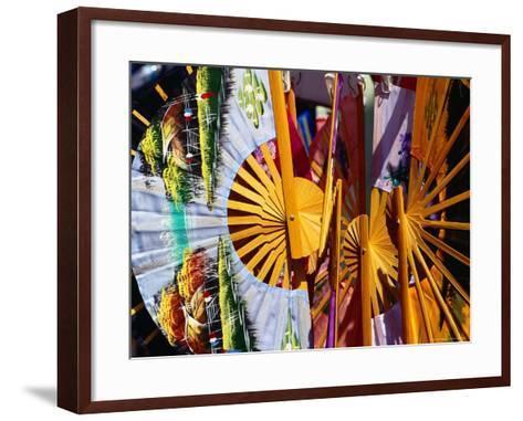 Decorative Fans in Chinatown, Singapore-Richard I'Anson-Framed Art Print