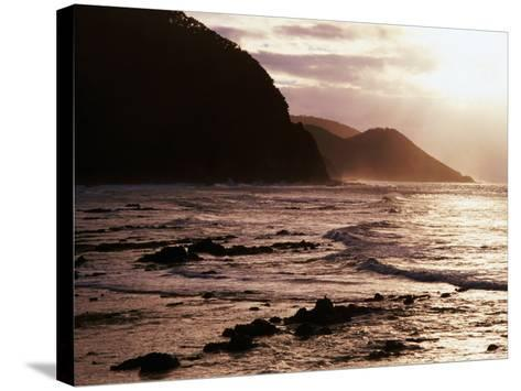 Looking Towards Mount Defiance Lookout, South of Lorne on the Great Ocean Road, Lorne, Australia-Rodney Hyett-Stretched Canvas Print
