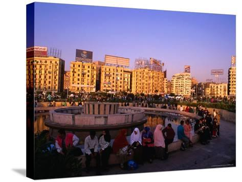 Fountain at Midan Tahrir (Liberation Square), Cairo, Egypt-Anders Blomqvist-Stretched Canvas Print