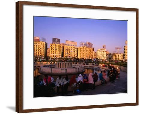 Fountain at Midan Tahrir (Liberation Square), Cairo, Egypt-Anders Blomqvist-Framed Art Print