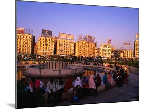Fountain at Midan Tahrir (Liberation Square), Cairo, Egypt-Anders Blomqvist-Mounted Photographic Print