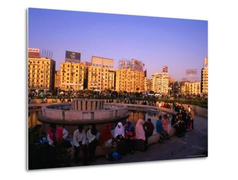 Fountain at Midan Tahrir (Liberation Square), Cairo, Egypt-Anders Blomqvist-Metal Print