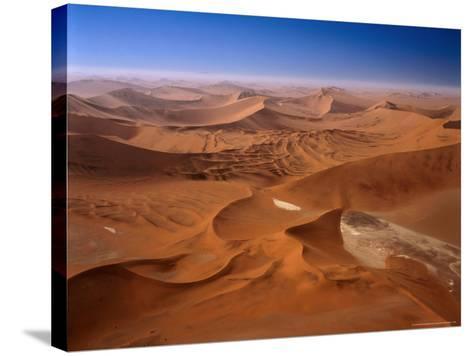 Huge Sand Dunes in Namib-Naukluft Desert Park, Sossusvlei, Namibia-Manfred Gottschalk-Stretched Canvas Print