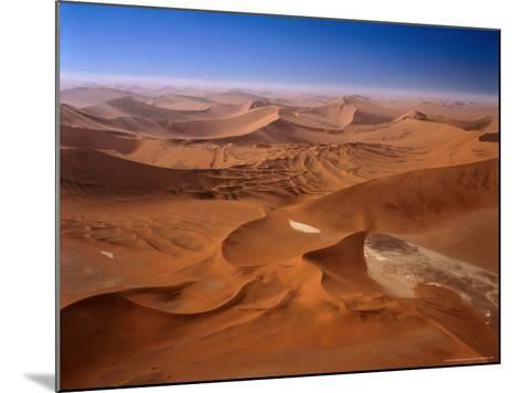 Huge Sand Dunes in Namib-Naukluft Desert Park, Sossusvlei, Namibia-Manfred Gottschalk-Mounted Photographic Print