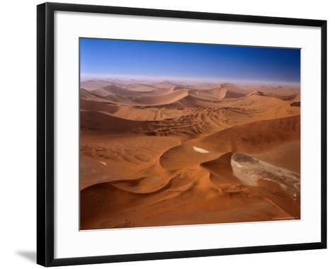 Huge Sand Dunes in Namib-Naukluft Desert Park, Sossusvlei, Namibia-Manfred Gottschalk-Framed Art Print