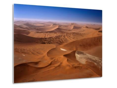 Huge Sand Dunes in Namib-Naukluft Desert Park, Sossusvlei, Namibia-Manfred Gottschalk-Metal Print