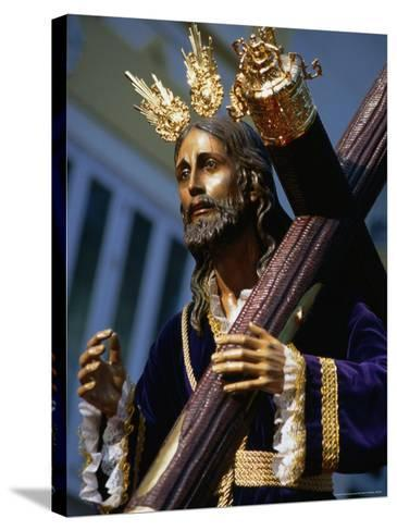 Statue During Holy Week Festival, Malaga, Spain-Setchfield Neil-Stretched Canvas Print