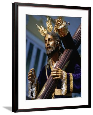 Statue During Holy Week Festival, Malaga, Spain-Setchfield Neil-Framed Art Print