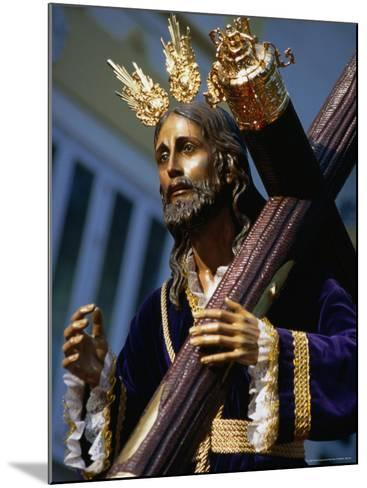 Statue During Holy Week Festival, Malaga, Spain-Setchfield Neil-Mounted Photographic Print
