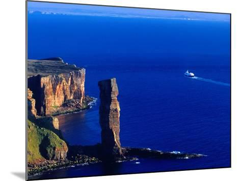 Passenger Ferry Passing Seastack Formation Known as Old Man of Hoy, Wester Ross, Scotland-Gareth McCormack-Mounted Photographic Print