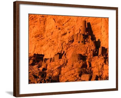 Abandoned Tellem Cliff Dwellings, Banani, Mali-John Elk III-Framed Art Print