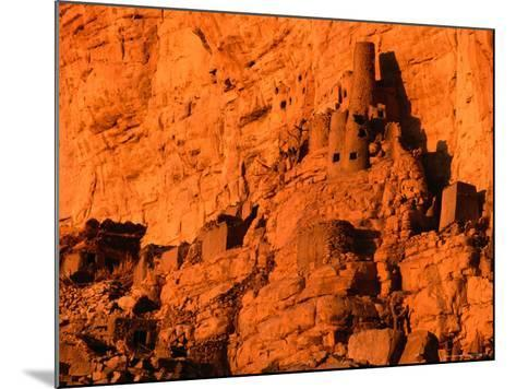 Abandoned Tellem Cliff Dwellings, Banani, Mali-John Elk III-Mounted Photographic Print