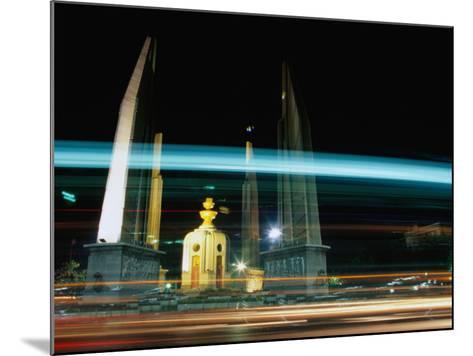 Moving Traffic at Democracy Monument, Bangkok, Thailand-Ryan Fox-Mounted Photographic Print