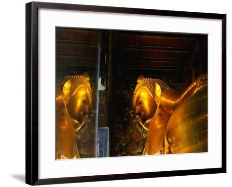 Reclining Buddha at Wat Pho, Bangkok, Thailand-Ryan Fox-Framed Art Print