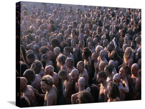 Crowds of Naga Sadhus During Maha Kumbh Mela Festival, Allahabad, India-Anders Blomqvist-Stretched Canvas Print