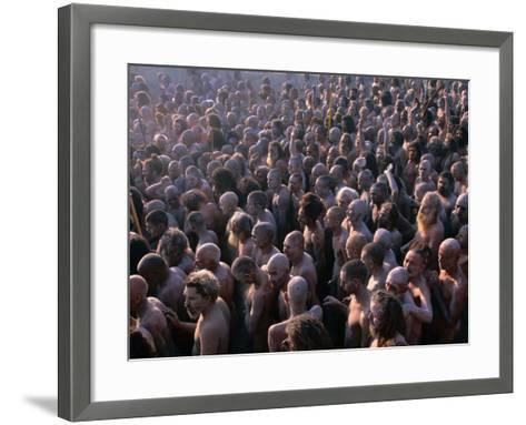 Crowds of Naga Sadhus During Maha Kumbh Mela Festival, Allahabad, India-Anders Blomqvist-Framed Art Print